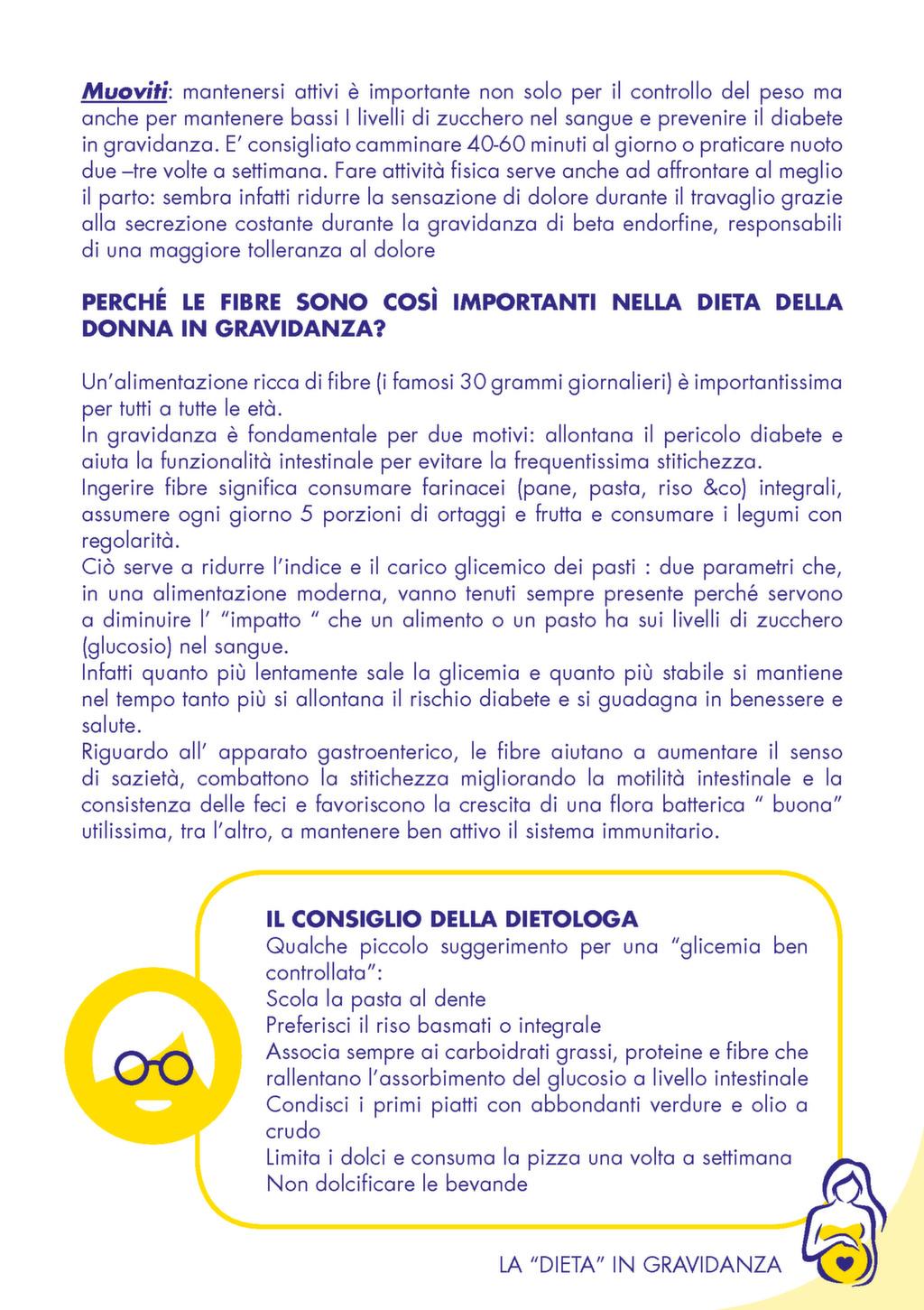 """Opuscolo """"La dieta in gravidanza"""" Tigros - Imaginor srl.."""